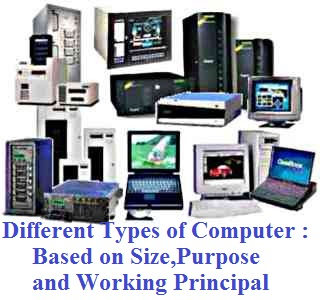 different types of computer based on sizepurpose and