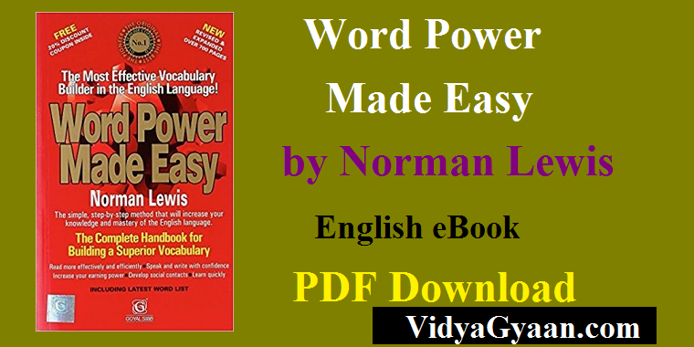 Word power made easy by norman lewis in pdf | recruitment topper.